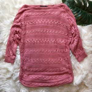 Ralph Lauren | Pink Cable Knit Sweater
